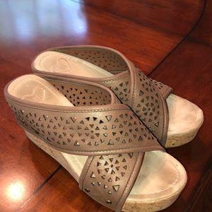 Madeline Wedged Sandals